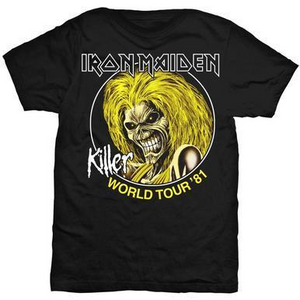 IRON MAIDEN MEN'S TEE: KILLER WORLD TOUR 81