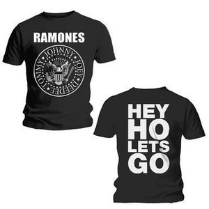 RAMONES MEN'S TEE: HEY HO (FRONT & BACK)