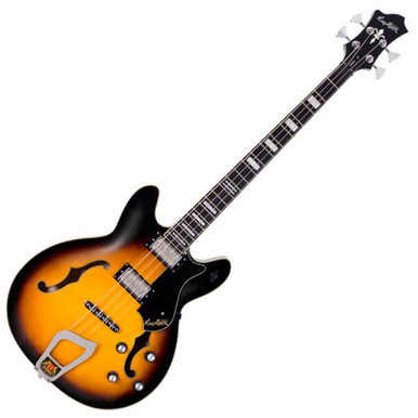 """<div align=""""center""""> <div align=""""center""""> <p class=""""p1""""><span style=""""font-family: arial; font-size: medium;""""><em><strong>HAGSTROM VIKING BASS</strong></em></span></p> <p class=""""p1""""><span style=""""font-family: arial; font-size: medium;""""><em>Introduced as the Concord bass in 1965, Hagstrom&rsquo;s Viking&reg; bass injects some tactfully chosen vigor into an all-time classic design. This meticulously crafted semi-hollow bass with a short 30.75-inch (781 mm) scale is fitted with Hagstrom&rsquo;s custom-voiced Dyna-Rail humbucking pickups. A brilliantly designed 6-way rotary switch allows switching between various humbucking and single-coil configurations for a dizzying array of tonal options. &nbsp;From 60&rsquo;s Brit-rock to modern day low-end goodness, the Viking&reg; bass delivers ear-candy galore.</em></span></p> <p class=""""p1""""><span style=""""font-family: arial; font-size: medium;""""><em>&nbsp;</em></span></p> <p class=""""p1""""><span style=""""font-family: arial; font-size: medium;""""><em><strong>H-EXPANDER</strong></em></span></p> <p class=""""p1""""><span style=""""font-family: arial; font-size: medium;""""><em>All Hagstrom electric guitars and basses include our patented H-Expander&trade; truss rod. Providing tension at both ends and running the entire length of the neck, the rigid yet light-weight alloy truss rod allows for a very low action and thin neck, two factors that were instrumental in earning Hagstrom its reputation as the world&rsquo;s fastest playing guitar. The H-Expander&trade; truss rod not only provides ultimate neck stability, but it also contributes to Hagstrom&rsquo;s unique tone. &nbsp;Longer sustain and a round attack are some of the sonic characteristics the H-Expander&trade; adds to the tonal essence of Hagstrom.</em></span></p> <p class=""""p1""""><span style=""""font-family: arial; font-size: medium;""""><em>&nbsp;</em></span></p> <p class=""""p1""""><span style=""""font-family: arial; font-size: medium;""""><em><strong>HAGSTROM MACHINE HEADS</strong></em></span></p> <p class=""""p1""""><span s"""