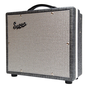 <p>SUPRO COMET 1 X 10 TUBE AMPLIFIER</p> <p>The Supro 1610rt Comet is a high-gain, low-wattage 1&times;10 combo with reverb, tremolo and switchable power. Designed to act as a go-anywhere companion to your favorite guitars, this lightweight tube amp cranks out 6-Watts or 14-Watts of screaming hot vintage tone with an on-board option to drench your sound in tube-driven reverb and tremolo. The Comet is your desert island tube amplifier.</p> <p>The preamp found in the Comet delivers warm, blooming clean tones up until 12-o-clock on the volume knob. Past noon, the Comet&rsquo;s voice rolls over into Supro crunch, giving way to a singing, violin-like overdrive at full volume. The Comet is remarkably high-gain for a vintage flavored amp and it nails that sweet-spot without being too loud for comfort.</p> <p>The Comet&rsquo;s vintage correct tremolo effect occurs in the preamp, before the reverb. This 12Ax7-based tremolo circuit allows for wider overall speed range and a deeper effect as compared to our louder models where the tremolo happens in the power tubes, after the reverb.</p> <p>The power-amp found in the Comet uses a single 6L6 tube with switchable plate voltage to achieve studio and practice friendly 6 Watts or a more robust 14 Watts for stage use. The overdrive that occurs within the Comet&rsquo;s &ldquo;single-ended,&rdquo; Class-A output stage is rich in even-order harmonics and soaked in tube compression. True to the legacy of the original, microphone-friendly Supro combos, the Comet&rsquo;s exceptional dynamics and ultra-low noise performance make it an ideal recording amp.</p> <p>The Comet is dressed in 1959 Supro cosmetics, with Black Rhino Hide tolex, black piping, white welting and a gold faceplate. Similar in construction to our award winning Black Magick and Supreme amplifier models, there is no beam blocker in front of the Comet&rsquo;s custom-made CR10 speaker, facilitating maximum throw and crystal-clear treble response from this compact all-tube masterpiece.</p> <p>A matching 1700 BD12 loaded, 1&times;12 extension cabinet can also be hooked up to the Comet, bringing the overall speaker impedance load down to 4-ohms to deliver maximum punch and additional stage volume for gigs. The 1610 Comet, and the entire line of Supro amps is hand-assembled in by Absara Audio in Port Jefferson, NY, USA.</p> <p>Features:<br />&bull; High Gain preamp<br />&bull; All-tube Tremolo and Reverb<br />&bull; 6-Watts or 14-Watts Switchable Power</p> <p>&bull; Single-Ended &ldquo;Class-A&rdquo; Power Amp<br />&bull; 1 &times; 10&Prime; Custom-voiced Supro CR10 speaker<br />&bull; EXT speaker jack for matching extension cabinet<br />&bull; 3x JJ 12AX7 preamp tubes<br />&bull; 1x JJ 12AT7 preamp tube\<br />&bull; 1x Sovtek 5881/6L6WGC power tube<br />&bull; 17 5/8&Prime; x 7 1/2&Prime; x 15 1/2&Prime; &ndash; 44.7 x 19 x 39.4 cm<br />&bull; 6 lbs &ndash; 15.3 kg<br />&bull; Gold Faceplate<br />&bull; 1959 Cosmetics with Black Rhino Hide Tolex<br />&bull; Assembled in NY, USA</p> <p>SKU: 181118090364</p>