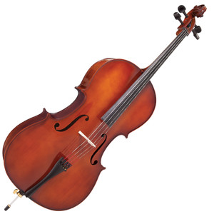 <p>Perfect for new players. Proffered by educators.</p> <p>In rehearsal, in concert, in junior orchestra, in school, at home, the Antoni 'Debut' Cello Outfit is the ideal student Cello.</p> <p>Fully featured, with a satisfying and sonorous tone, featuring solid timbers and ebony appointments, and provided with a high quality wood bow, the Antoni 'Debut' Cello is a star performer.</p> <p>Antoni 'Debut' Cello Outfit</p> <ul> <li>Two-piece figured hand carved solid maple back</li> <li>Hand carved solid maple ribs</li> <li>Double purfling</li> <li>Hand carved solid spruce belly</li> <li>Satin finish maple neck with gloss finish scroll</li> <li>High gloss antique brown varnish</li> <li>Ebony fingerboard</li> <li>Ebony nut</li> <li>Ebony tuning pegs</li> <li>Lightweight alloy tailpiece with integral adjustable fine tuners</li> <li>Ebonised hardwood end pin with adjustable chrome leg and rubber foot</li> <li>Fitted maple bridge</li> <li>Round wood bow with white tip nickel silver winding and leather lapping fitted with natural white horse hair</li> <li>Decorative mounted ebonised hardwood frog with nickel silver ferrule, inlaid eye and screw</li> <li>Heavy, deep padded water resistant 600 denier nylon cordura bag with external bow pockets, accessory pocket and carry straps</li> <li>Rosin</li> </ul>