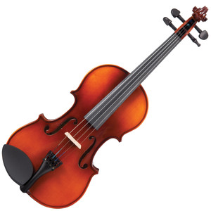 <p>Perfect for new players. Preferred by educators.</p> <p>The Antoni 'Debut' violin series is the ideal instrument, for beginners of all ages.</p> <p>Available as complete, ready to play outfits from full to eighth size in violin, the 'Debut' range is designed to provide the student and educator with an instrument which can be trusted to be easy to play, satisfying to learn on, and to deliver performance and tone, consistently and reliably.</p> <p>The 'Debut' range, which also includes Cello and Double Bass outfits is used and recommended by educators and has allowed countless students to take their first steps.</p> <p>Antoni 'Debut' Violin Outfit</p> <ul> <li>Two-piece figured hand carved solid maple back</li> <li>Solid maple ribs</li> <li>Double purfling</li> <li>Solid spruce hand carved table</li> <li>Satin finish maple neck with gloss finish scroll</li> <li>High gloss antique brown varnish</li> <li>Ebonised hardwood fingerboard and nut</li> <li>Ebonised hardwood tuning pegs</li> <li>Lightweight alloy tailpiece with integral adjustable fine tuners</li> <li>Ebonised hardwood endpin</li> <li>Dresden pattern ebonised hardwood chinrest</li> <li>Maple fitted bridge</li> <li>Round wood bow with white tip nickel silver winding and leather lapping fitted with natural white horse hair</li> <li>Decorative mounted ebonised hardwood frog with nickel silver ferrule, inlaid eye and screw</li> <li>Shaped 'nil-gravity' hard foam case with integral cover incorporating large external music pocket and shoulder strap</li> <li>Emerald green plush lined fitted interior and lid with internal accessory pocket, twin bow holder and overlay cloth</li> <li>Rosin</li> </ul>