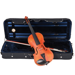<p>The 'Symphonique' will astonish the most accomplished player with its focussed tone, beauty and breadth of ability.</p> <p>Inspired by the masters, the Antoni 'Symphonique' violin brings together Atelier construction methods, premium tonewoods, and a level of fit and finish of a very high standard.</p> <p>With the 'Symphonique', we wanted to provide features and feel usually only found on esoteric professional masterclass instruments.</p> <p>In achieving this goal, we bring you an instrument which we truly believe will inspire you.</p> <p>Antoni 'Symphonique' Violin Outfit</p> <ul> <li>Selected hand carved solid flame maple back</li> <li>Selected hand carved solid flame maple ribs</li> <li>Double inlaid purfling</li> <li>Selected hand carved close grain spruce table</li> <li>Selected solid hand carved flame maple neck and scroll</li> <li>Antique French-style satin oil rubbed finish</li> <li>Ebony fingerboard and nut</li> <li>Ebony traditional pattern tuning pegs with inlaid brass and mother-of-pearl Parisian eye</li> <li>Ebony tailpiece with four gilt adjustable fine tuners and inlaid decorative brass and mother-of-pearl Parisian eye</li> <li>Ebony endpin with inlaid decorative brass and mother-of-pearl Perisian eye</li> <li>Ebony Guarneri pattern chinrest with gilt clip</li> <li>Selected hard maple fitted bridge</li> <li>Octagonal, premium wood bow with white tip, nickel silver winding and leather lapped, fitted with natural white horse hair</li> <li>Abalone mounted ebony frog with nickel silver ferrule and heel, nickel silver and mother-of-pearl Parisian eye and inlaid screw</li> <li>Luxurious, professional oblong 'nil gravity' hard foam case, with integral canvas cover incorporating large external music pocket, double zip closure with additional weather proof flap, and shoulder straps</li> <li>Midnight blue, short pile plush lined interior, two large, covered accessory pockets, twin bow holders, and integral hygrometer and luxury overlay cloth</li> <li>Rosin cake</li> </ul>