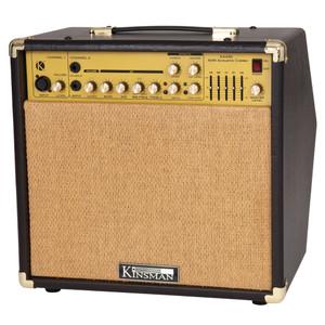 <div>Specially designed for amplifying acoustic instruments these amps not only sound great but look the biz!</div><div><br></div><div>Specifications:</div><div>• Microphone Channel: XLR/Jack Socket</div><div>• Instrument Channel: Input Socket</div><div>• CD Input Socket</div><div>• Level Control</div><div>• EQ: Bass, Mid, Mid Frequency (200Hz – 4.5KHz), Treble</div><div>• 5 Band EQ</div><div>• Master Volume</div><div>• Speaker Out Socket</div><div>• Foot Switch Socket</div><div>• Send/Return Sockets</div><div>• Gold/brown control knobs</div><div>• Recessed control panel</div><div>• Grained vinyl covering</div><div>• Brown grille cloth</div><div>• Carry handle</div><div>• Metal corner protectors</div><div>• Rubber feet</div>