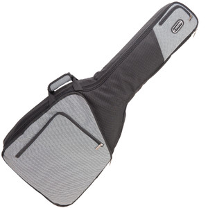 <div><b>Externally</b></div><div>• 1200 denier heavy duty fabric</div><div>• Stylish black and two-tone contrasting design</div><div>• Outer body cover with super-size zipped padded magazine/music pocket</div><div>• Concealed outer body net accessory pockets</div><div>• Neck accessory pocket ideal for tuners/strings</div><div>• High quality durable 6mm zippers with metal pull tags</div><div>• Padded adjustable shoulder straps</div><div>• Shoulder strap tidy for use when carrying by hand</div><div>• Padded wrapover comfort handle with velcro fastening</div><div>• Protective grip strip on bottom of bag</div><div>• Hanging loop with metal spring clip</div><div>• Address label pocket</div><div><br></div><div><b>Internally</b></div><div>• 25mm deep padding</div><div>• Soft luxury classic black 'fur' lining</div><div>• Exceptionally deep padding for ultimate protection</div><div>• Neck support block with velcro</div><div>• Leatherette protective pads for headstock/bridge</div><div>• Support block for strap button</div>