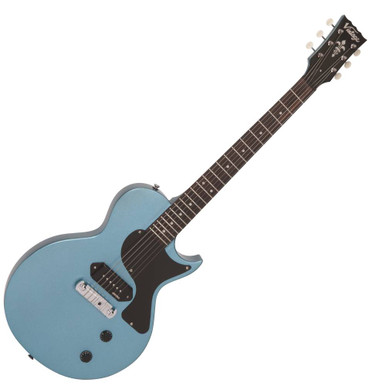 vintage v120 electric guitar single cut gun hill blue. Black Bedroom Furniture Sets. Home Design Ideas