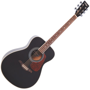 <p>VINTAGE FOLK GUITAR- SOLID TOP- BLACK</p> <p>The Vintage V300 acoustic guitar in black - voted 'Best acoustic guitar under 1000' by Guitar Magazine.&nbsp; 'This little concert acoustic is stonkingly good, continued TGM, adding, A comfortable, fast playing neck, plus good dynamics and volume from the parlour-esque body.&nbsp; At this price, go buy.&nbsp; Every home should have one.'</p>