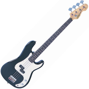 "<p>VINTAGE BASS GUITAR-BOULEVARD BLACK</p> <p>The heart of a good bass sound lies with the string anchoring, and the V4s bridge makes sure that's the way it stays. Face mounted and fully adjustable, the rear loaded strings pass over the V4's chunky brass bridge saddles for maximum bottom end tone</p> <p>&nbsp;</p> <h2>Features / Specifications:</h2> <ul> <li><strong>Body:</strong> Eastern Poplar</li> <li><strong>Neck:</strong> Hard Maple - Bolt On</li> <li><strong>Scale:</strong> 34""/864mm</li> <li><strong>Frets:</strong> 20</li> <li><strong>Neck Inlays:</strong> Pearloid Dot</li> <li><strong>Tuners:</strong> Wilkinson&reg; WJBL200</li> <li><strong>Bridge:</strong> Adjustable</li> <li><strong>Pickups:</strong> Wilkinson&reg; PB x 1 (M) WPB</li> <li><strong>Hardware:</strong> Chrome</li> <li><strong>Controls:</strong> 1 x Volume/ 1 x Tone</li> </ul>"