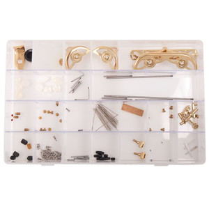 For the brass and woodwind instrument repairer, or experienced player/teacher capable of performing instrument maintenance, Odyssey offers a set of parts kits for clarinet, flute, saxophone and trumpet. This kit comprising of all those essential parts required for basic alto sax instrument upkeep and set-up - spare parts right at your fingertips!