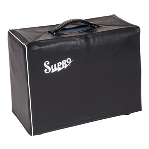 <p>SUPRO BLACK AMP COVER - FITS 1 X 10 COMBO</p> <p><span>Supro VC10 BLACK AMP COVER - FITS 1 X 10 COMBO 2Protect your USA designed and built Supro amp from the knocks, bumps and drizzle of everyday life on the road with the firms new Amp Covers. These smart looking, snug fitting, lined black leatherette covers feature a handle cut-out and classic white piping and the legendary Supro logo</span></p>