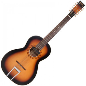 "<p>VINTAGE ELECTRO STATESBORO 12 STRING GUITAR &amp; CASE BY PAUL BRETT</p> <p><span>Designed by 12-string guitarist and vintage guitar expert Paul Brett as a fitting tribute to the pioneering blues era of the 1930's and in particular, the legendary&nbsp;</span><strong>Blind Willie McTell</strong><span>, the Vintage V5000SB-12 Statesboro&rsquo; oozes pure nostalgia from every pore. Featuring a solid spruce top, with maple back and mahogany sides elegantly mated to a mahogany neck with rosewood fingerboard, the Statesboro&rsquo;s rosewood bridge with bone saddle and bone nut provides excellent intonation and tone, with plenty of volume.&nbsp;</span><br /><br /><span>&ldquo;Using the designs of the legendary Stella guitars crafted by Oscar Schmidt in the early 20th century,&rdquo; says Paul &ldquo;Vintage and I have created a homage to the iconic model that Willie himself played. Obviously we have updated various elements to morph into todays market, but in essence, it looks like and certainly sounds like a big blues machine of that era.&rdquo; Available in both acoustic (V5000SB-12) and electro-acoustic models (VE5000SB-12 &ndash; with the addition of a Fishman PRO-REP-102 Rare Earth Humbucker soundhole pickup system) the Statesboro&rsquo; is ideal for traditional blues pickers and is also able to handle many other styles and tunings, depending on string gauges. Supplied with Kinsman Hardshell case.</span></p> <table id=""product-attribute-specs-table"" class=""data-table""> <tbody> <tr class=""first odd""><th class=""label"">Colour</th> <td class=""data last"">Satin Antique Burst</td> </tr> <tr class=""even""><th class=""label"">Body</th> <td class=""data last"">Solid Spruce</td> </tr> <tr class=""odd""><th class=""label"">Back</th> <td class=""data last"">Maple</td> </tr> <tr class=""even""><th class=""label"">Sides</th> <td class=""data last"">Mahogany</td> </tr> <tr class=""odd""><th class=""label"">Binding</th> <td class=""data last"">White</td> </tr> <tr class=""even""><th class=""label"">Neck</th> <td class=""data last"">Mahogany with Maple veneer headstock</td> </tr> <tr class=""odd""><th class=""label"">Top Nut</th> <td class=""data last"">Bone</td> </tr> <tr class=""even""><th class=""label"">Nut Width</th> <td class=""data last"">50mm</td> </tr> <tr class=""odd""><th class=""label"">Bridge</th> <td class=""data last"">Rosewood</td> </tr> <tr class=""even""><th class=""label"">Machine Heads</th> <td class=""data last"">Chrome with cream buttons</td> </tr> <tr class=""odd""><th class=""label"">Pickups</th> <td class=""data last"">Fishman REP-102 Rare Earth Humbucker Soundhole Pick Up</td> </tr> <tr class=""last even""><th class=""label"">Includes</th> <td class=""data last"">Case</td> </tr> </tbody> </table>"