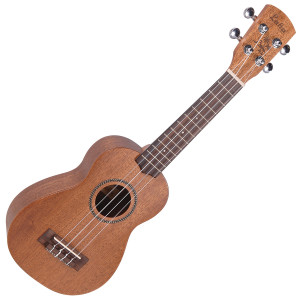 <p>VINTAGE LAKA SERIES SOPRANO ACOUSTIC UKULELE - SOLID MAHOGANY</p> <p><span>Effectively the-standard&rsquo; ukulele and the smallest bodied of the family, with the most recognisable uke tone, the soprano uke is the one on which most novices learn. The Laka Soprano Uke is an acoustic model which features a solid mahogany top, with laminated mahogany back and sides. A rosewood fingerboard carries 3mm-micro dot&rsquo; markers, and check the neat-rope binding&rsquo; rosette on all the Laka ukes including this soprano one.</span></p>
