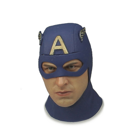Hot Toys - Captain America (Star Spangled) : Head (Neckless) (HTMMS205L-01)