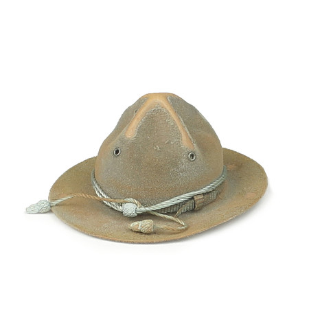 """DiD - WWI American Infantryman """"Buck Jones"""" Special Edition : Campaign Hat (Weathered)"""