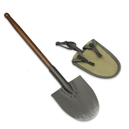 "DiD - WWI German Grenadier ""Lutz Fedder"" : Shovel (Wood & Metal) w/Cover"