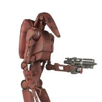Sideshow - Geonosis Infantry Droid : x1 Droid w/Blaster (SS100285L-01)