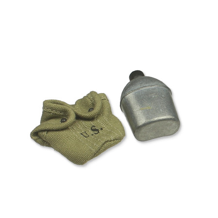 Dragon - WWII US Army Medic 'Doc Baker' : M1910 Canteen (Metal) w/Cover (DML70615L-06)