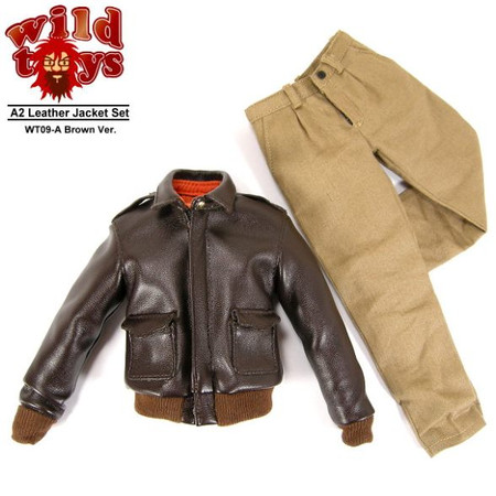Wild Toys - A2 Leather Jacket Set (Brown)