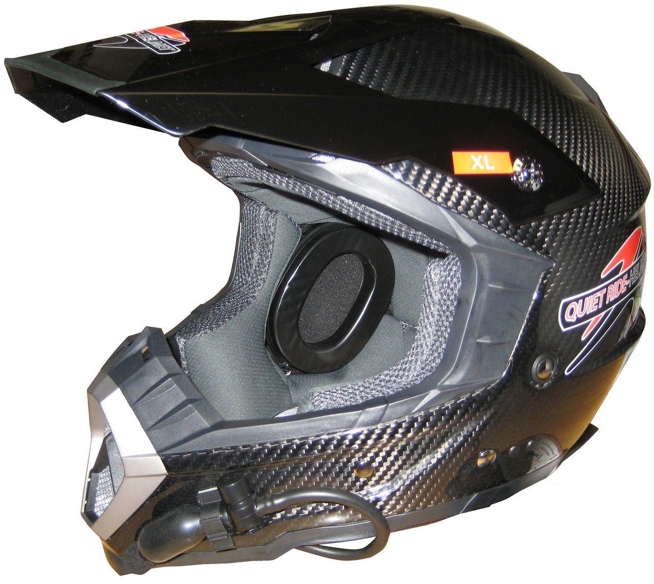 Quiet Ride Noise Reduction Helmet | Carbon Fiber Motocross Helmet