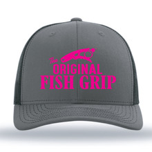 The Fish Grip SnapBack Hat - Pink Logo