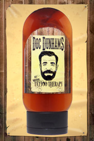 Doc Dunham's Tattoo Therapy lotion, not only nourishes your tattoo and skin, but it helps maintain and bring back the colors of your ink*.  All Natural 87% organic ingredients