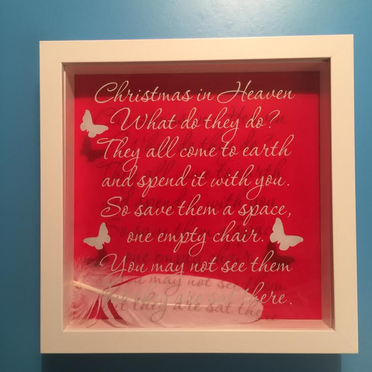Christmas In Heaven Chair.Christmas In Heaven Frame