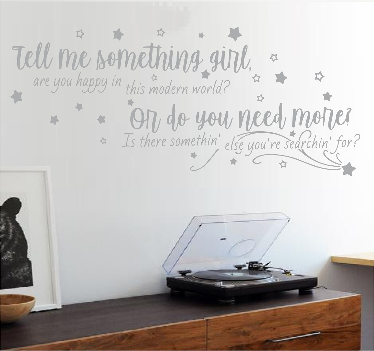 Shallow lyrics Wall Art from A Star Is Born