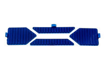 1 Set (4pcs.) Blue Flood Protective Interchangeable Lens Cover for OZ-USA® X-Series LED Light bar.