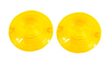 Blinker Yellow Lens Classic Harley Touring Pancake Road King Glide Electra Turn Signal FL