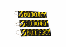 3 PULL TO EJECT Key Chain aviation atv utv motorcycle pilot crew tag lock 4x rv