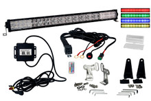 "RGB Series 30"" OZ-USA® Double Row Dimmable LED Light bar Cross Style DRL & Variable RGB Bluetooth Functions Combo Beam Anti-theft Hardware Off road 4WD ATV SUV Truck"