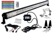 "RGB Series 50"" OZ-USA® Double Row Dimmable LED Light bar Cross Style DRL & Variable RGB Bluetooth Functions Combo Beam Anti-theft Hardware Off road 4WD ATV SUV Truck"