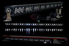 "HD Series 40"" OZ-USA® High Output LED Halo Rings Advance Optic Anti-Glare Lens Single Row Light bar Off Road Fog lights"