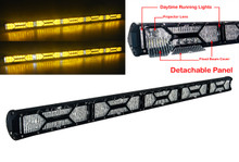 """X-Series 50"""" OZ-USA® Amber Yellow Lens Double Row LED Light Bar Combo Beam Diffused ( Flood Beam) Lens Integrated DRL  Fog Dust Offroad 4x4 Truck SUV"""