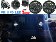 "7"" OZ-USA® High Output Military LED Headlight 24 volts M35a2 M35 M35a3 M923 Truck HHMMWV M998 DIESEL"