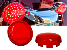 Set (2) RED Turn Signal Lens Deuce-Style Snap On Replacement lens  for Harley 2002-2013 Street Glide FLHX