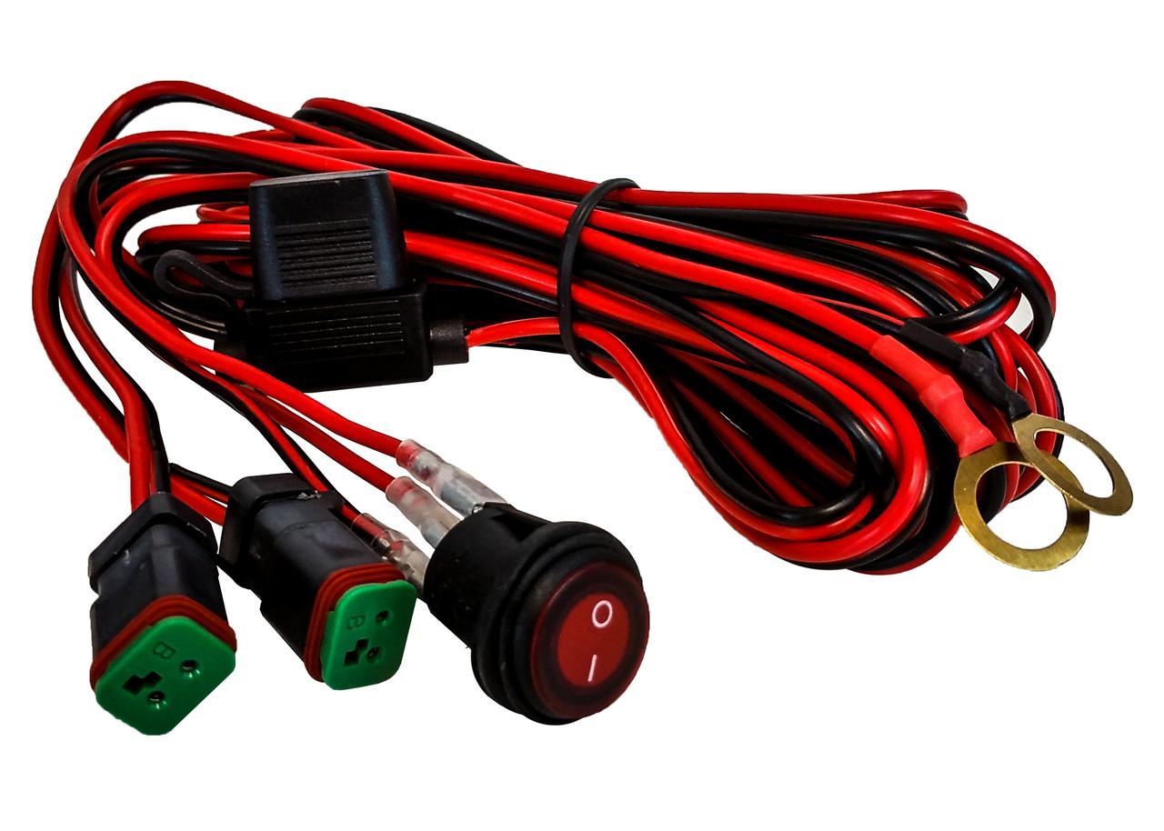 double dt pod harness plug wiring kit 16 awg 30a fuse box lighted rh oz usa com
