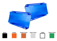2pcs 6 inch Blue Flood OZ-USA® Diffused Protective Polycarbonate Lens Snap On Cover for Offroad LED light bar dual row ATV SUV 4x4