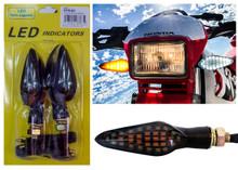 Motorcycle White Amber LED Running Light Turn Signal Dual Intensity Smoke Lens 12 Volts Universal Blinker