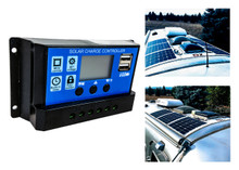 20A Solar PV Panel Battery Charger Regulator Controller LCD Display Built-in Timer USB Port 12V 24V