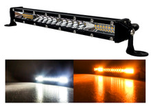 "M-Series 10"" Dual White Amber Ultra Slim High Output Osram Color Changing LED Light Bar Single Row Spot Flood Combo Beam Off Road Truck ATV Marine Boat RV Heavy Equipment Vehicles 12 - 30 Volts"