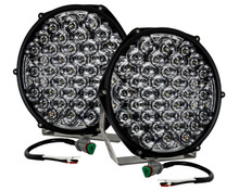"9"" Round High Output Long Range Osram LED Driving Lights with DRL Function Offroad Truck Spot Beam 12v-24v"