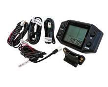 Digital LCD Multi-function Kit  Speedometer Hour Meter Gauge Tachometer Odometer Thermometer Clock Voltage Display Gas Engine Marine 12V - 24V