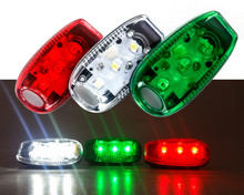 Clip On LED Safety Warning Strobe Light Bicycle Marine Boat Navigation Sail Zodiac JS Spare Kayak Yacht Zodiak