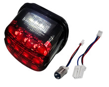 Rear Red LED Smoke Lens Tail Brake Running Light Compatible with Harley Touring Dyna Road King Electra Glide Street Bob