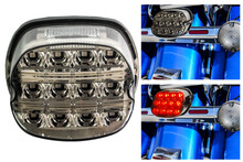 Clear Lens Red LED Tail Brake Running Light Compatible with Harley Touring Dyna Road King Electra Glide Street Bob