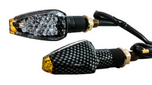 Carbon Turn Signal Led Suzuki Dual Sport Motorcycle Dirt Bike Supermoto Blinker