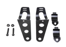 Black Fork Ear Headlight Mount Brackets Motorcycle Chopper Cafe Racer 35mm-43mm