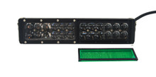 HO Green Flood Lens OZ-USA® for HO Series Double Row LED Lightbars.