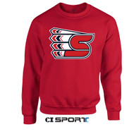 CI Sport S Logo Soft Touch Crew (Red)